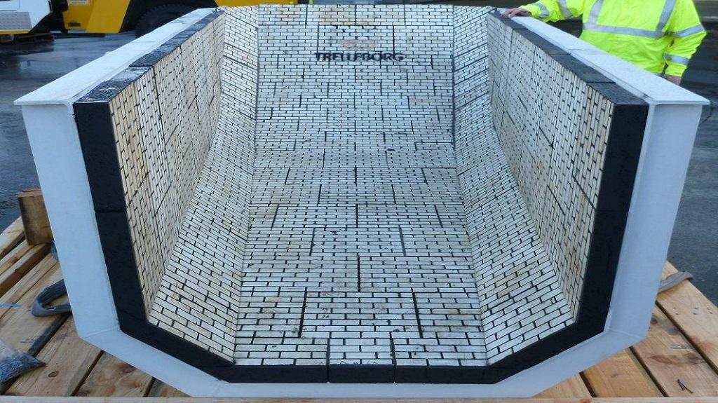 Composite Ceramics Trelleborg Custom Ceramic Liner
