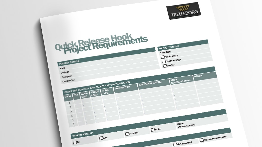 Project Requirements Forms - Trelleborg Marine Systems
