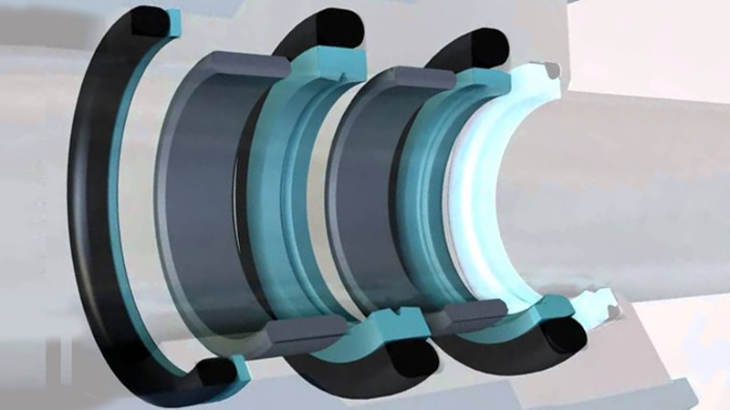 Rotary shaft oil seal 23 x 47 x height, model pack