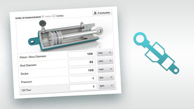 液压油缸计算器