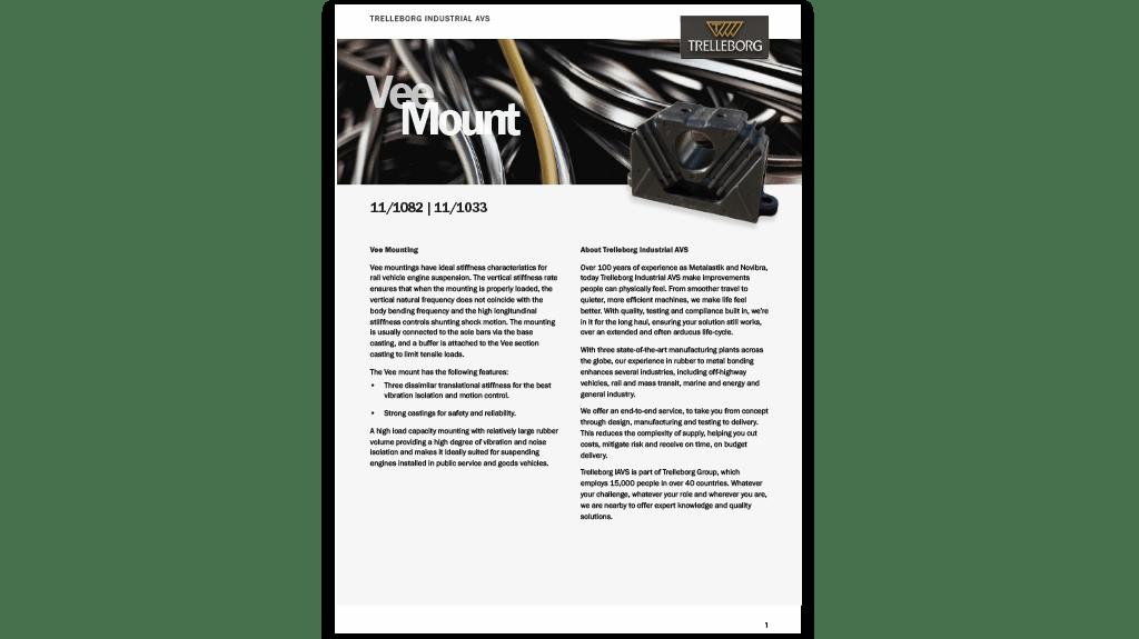 Vee Mount Product Range - Trelleborg Antivibration Solutions