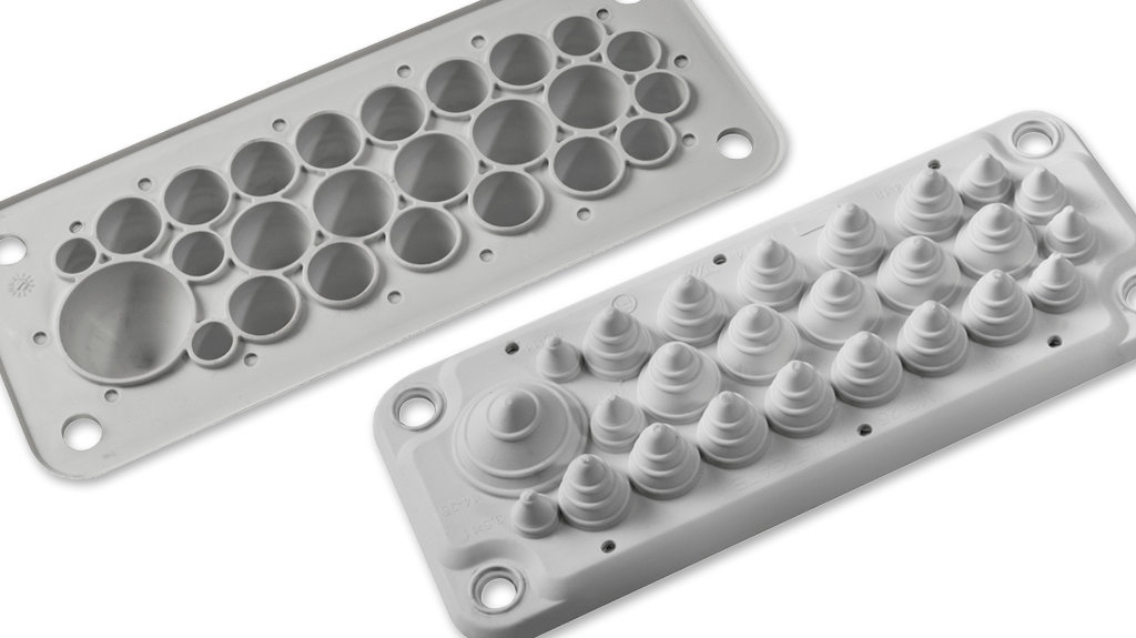 Ip54 55 Cable Gland Plates Trelleborg Moulded Components
