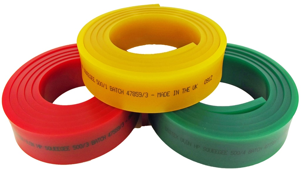 Trelleborg screen printing rolls Squeegees